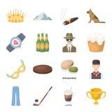 De dienst, sport, fitness en ander Webpictogram in beeldverhaalstijl Voedsel, land, dierlijke pictogrammen in vastgestelde inzame Stock Foto