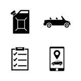 De dienst van de auto Eenvoudige Verwante Vectorpictogrammen stock illustratie