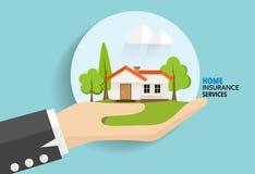 De dienst van het huisverzekeringsbedrijf Vectorillustratieconcept van Royalty-vrije Stock Foto