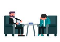 De dienst van psychotherapist royalty-vrije illustratie