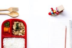 De dienst van de voedsellevering: Druk leveringsconcept voor bedrijfsfoo uit Stock Afbeelding