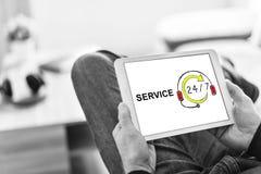 De dienstconcept op een tablet royalty-vrije stock fotografie