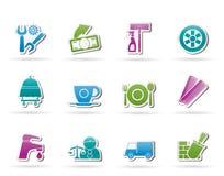 De diensten en bedrijfspictogrammen Royalty-vrije Stock Foto