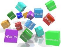 De Diensten van Internet Stock Foto