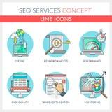 De diensten van Seo Vector Illustratie