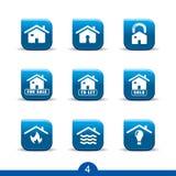 De dienstenpictogrammen van het huis 4. .smooth reeksen Stock Foto