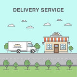 De dienstillustratie van de broodlevering stock illustratie