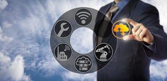 De dienstingenieur Enabling Cloud Manufacturing stock afbeeldingen
