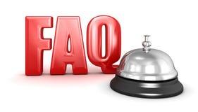 De dienstklok en FAQ Stock Foto's