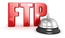 De dienstklok en FTP Stock Afbeeldingen