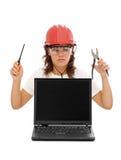 De dienstpersoneel van de computer Stock Foto