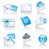De dienstpictogrammen van de post Stock Afbeelding