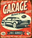 De dienstteken van de Grunge retro auto Stock Afbeelding