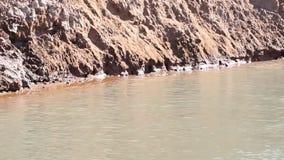 De diepe blauwe golven van het meerwater stock videobeelden