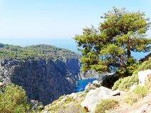 De diepe kloof fethiye Turkije van de vlindervallei Stock Foto