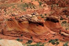De diepe Oranje Roest Gekleurde Vormingen van de Rots Royalty-vrije Stock Afbeelding