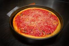 De diepe Oven van de de Stijlpizza van Schotelchicago Royalty-vrije Stock Foto