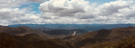 De dieptemening van de Oaxaca mooie berg Royalty-vrije Stock Foto's