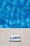 De diepteteken van de pool Stock Afbeeldingen