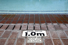 De diepteteken van de pool Royalty-vrije Stock Afbeeldingen