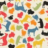 De dieren naadloos patroon van het landbouwbedrijf Stock Afbeelding