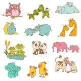 De Dieren van de baby en van de Mama vector illustratie