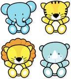 De dieren van de babysafari Stock Foto's