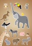 De dieren van de beeldverhaalstijl Stock Afbeelding