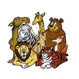 De dieren van de dierentuin stock illustratie