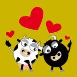 De dieren van de liefde (vector) Stock Afbeeldingen