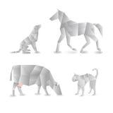 De dieren van de origami Royalty-vrije Stock Afbeelding