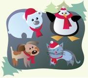De dieren van de winter Stock Afbeeldingen