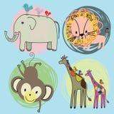 De dieren van het beeldverhaal Stock Fotografie