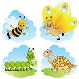 De dieren van het beeldverhaal. Stock Foto