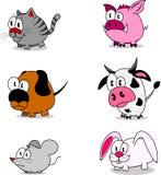 De dieren van het beeldverhaal Stock Afbeeldingen