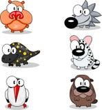 De dieren van het beeldverhaal Stock Foto's