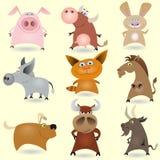 De dieren van het beeldverhaal geplaatst #1 Royalty-vrije Stock Fotografie