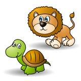 De dieren van het beeldverhaal plaatsen 1 Vector Illustratie