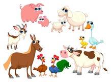 De dieren van het familielandbouwbedrijf vector illustratie