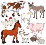 De dieren van het landbouwbedrijf. royalty-vrije illustratie