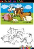 De Dieren van het landbouwbedrijf en van het Vee voor het Kleuren Stock Foto