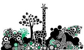 De dieren van het ornament royalty-vrije illustratie