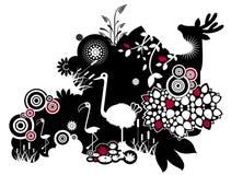 De dieren van het ornament stock illustratie