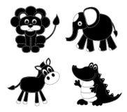 De dieren van het silhouettenlapwerk Stock Foto