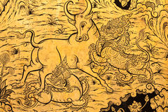 De dieren van het sprookje het vechten Royalty-vrije Stock Afbeeldingen