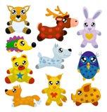 De dieren van het stuk speelgoed Stock Foto's