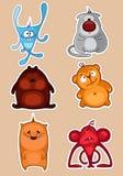 De dieren van het stuk speelgoed Royalty-vrije Stock Afbeeldingen