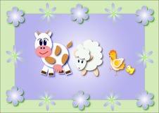 De dieren van Pasen Stock Foto