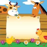 De dierenkaart van het landbouwbedrijf Stock Fotografie