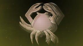 De dierenriem ondertekent Kanker en mooie achtergrond voor presentaties, videointro, horoscoop, films, overgang, titels en vector illustratie